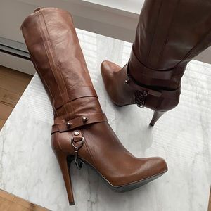Browns Leather Boots Made in Italy size 40